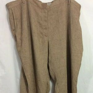 NEW Womens Plus Avenue Sz 30 4/5X Brown Tan Pants